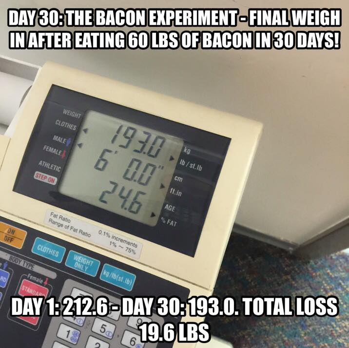 picture via  The Bacon Experiment Facebook page