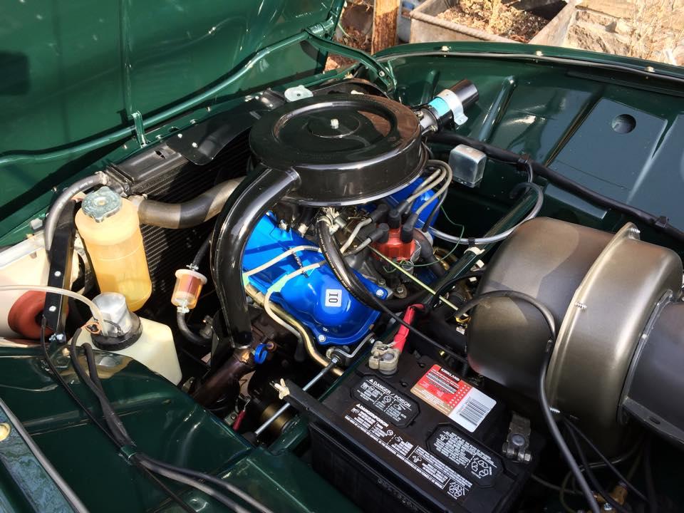 The beautiful restored engine