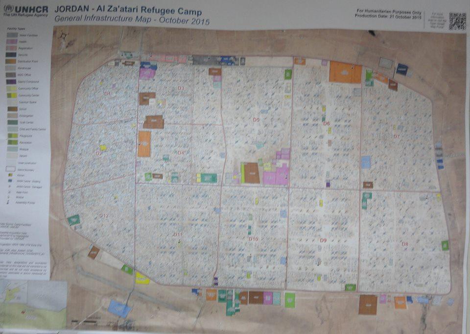Photo of Za'atari Refugee Camp (Zaatari). Population of the camp is 79,250, about the population of Peterborough