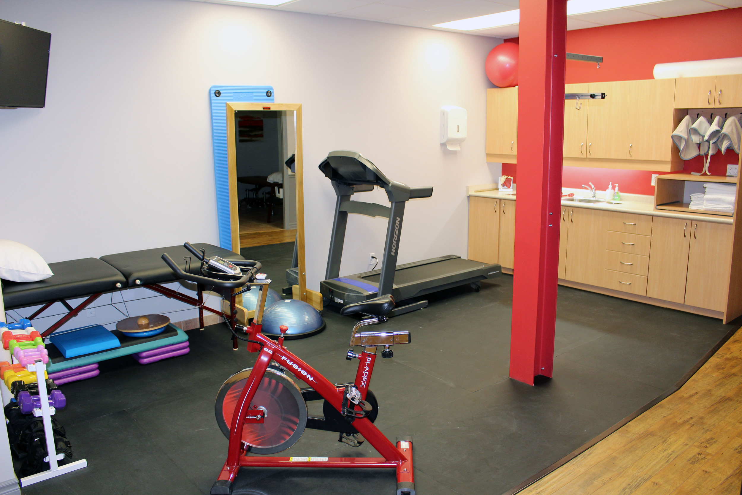 The beautiful Pulse open concept gym
