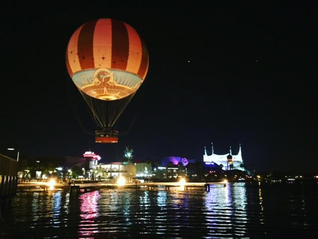 Disney Springs at night