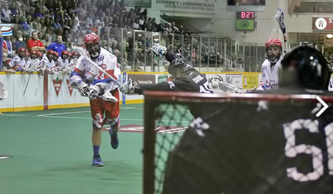 John Grant Jr. one of greatest players in lacrosse history (photo courtesy Peterborough Lakers)