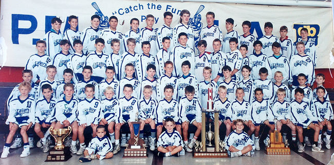 John Grant Jr., top row, third from the left, in 1989 minor lacrosse team photo