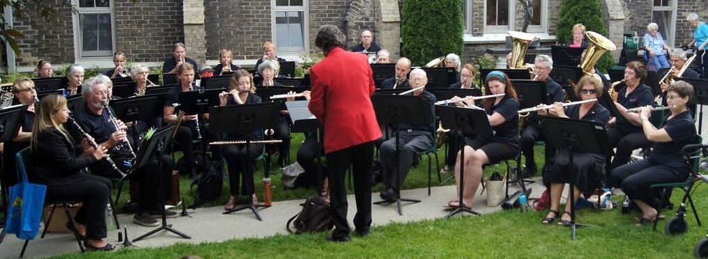 The Concert Band plays annually at the St. John's Anglican Church Strawberry Social