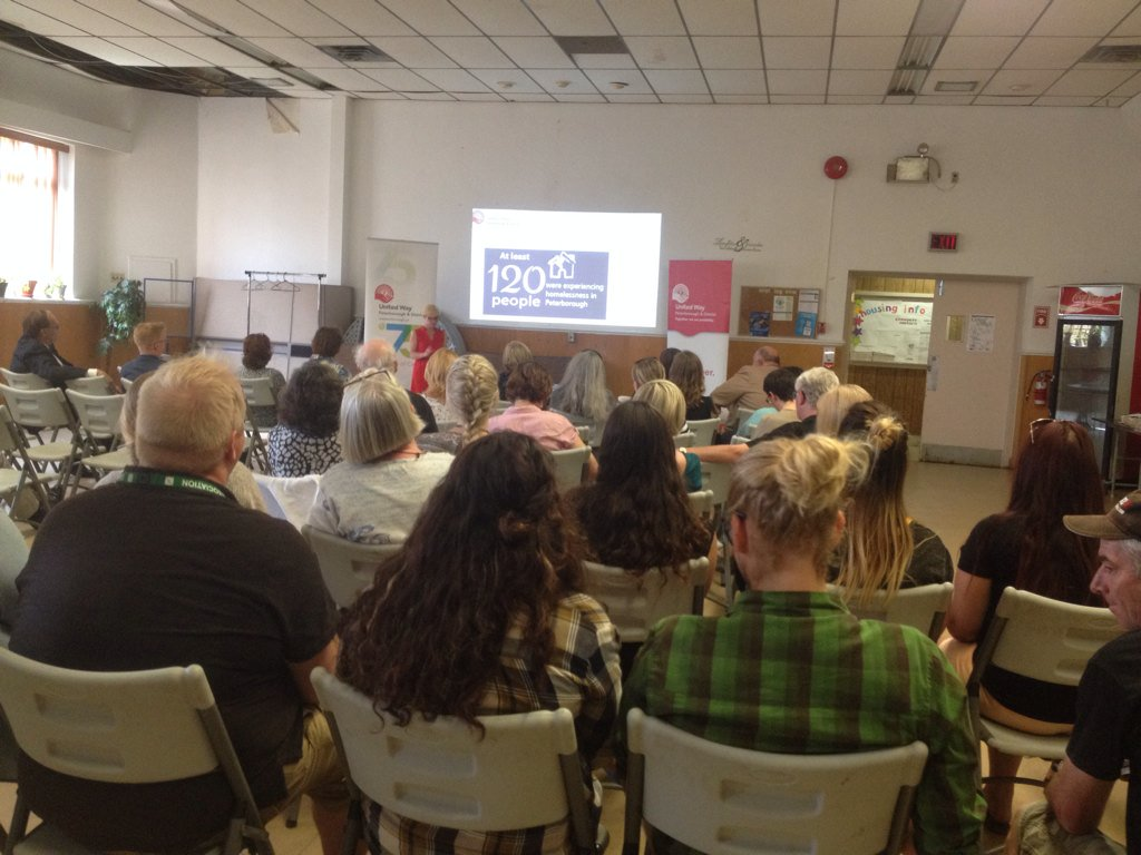 Photo via  @UnitedPtbo  launch event introducing Giving Voice to the Homeless