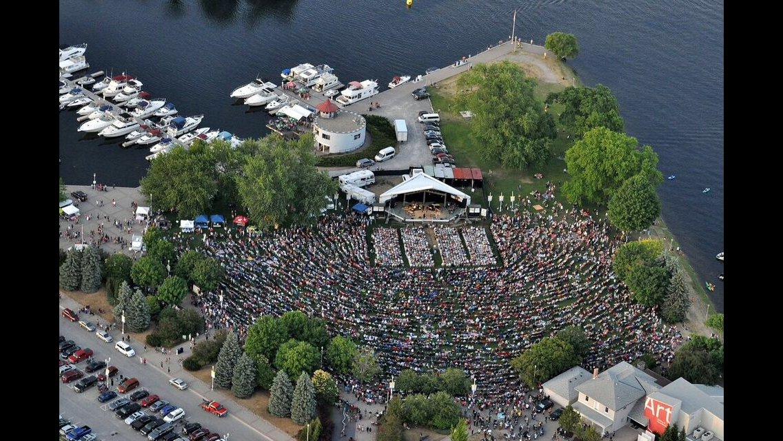 Serena Ryder concert, aerial view