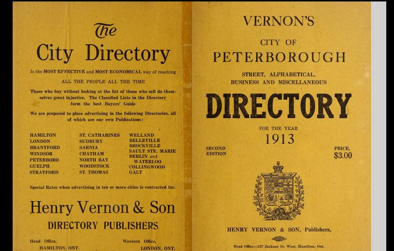City directory, 1913