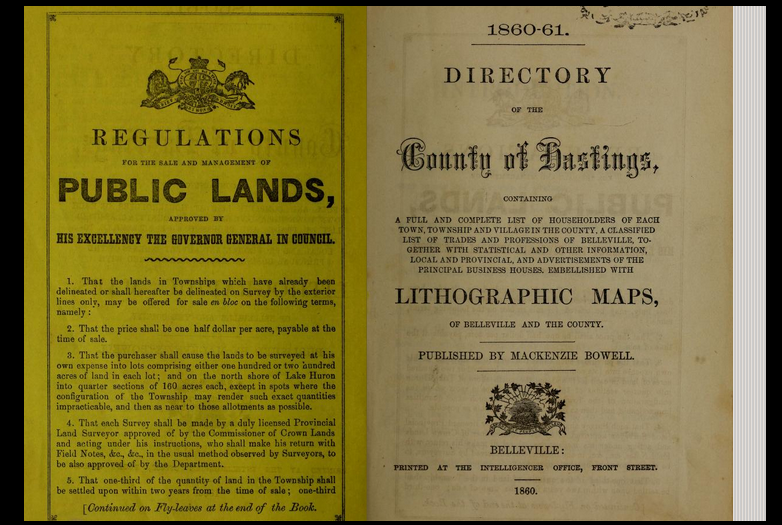 1860-61, Directory of the County of Hastings