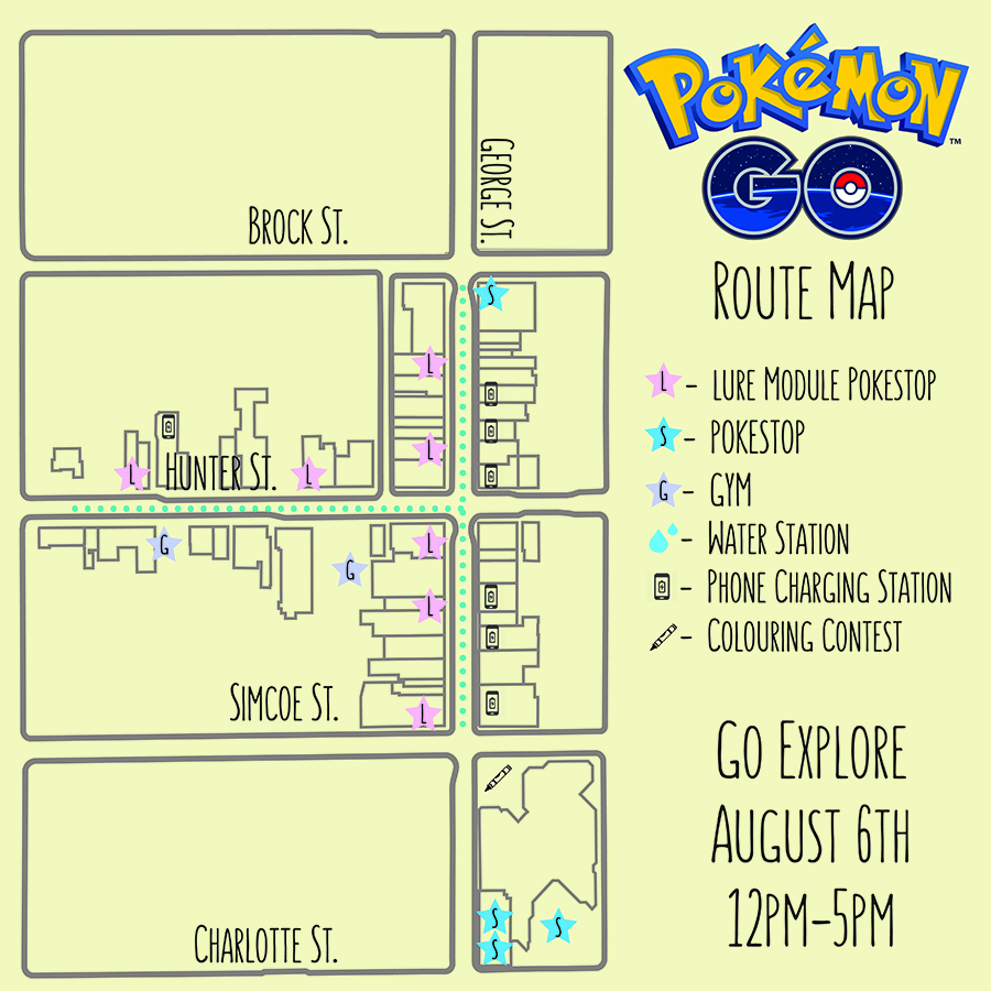 Here's The Route Map For The Pokémon Go Party In Downtown