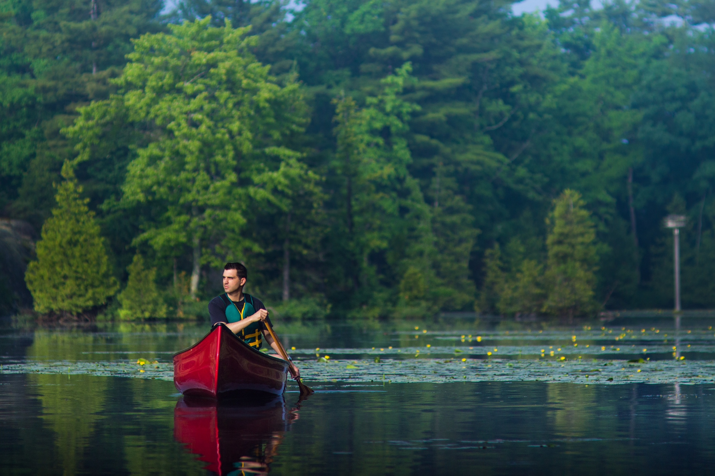 Andrew loves to be on the water—whether it's work or leisure time