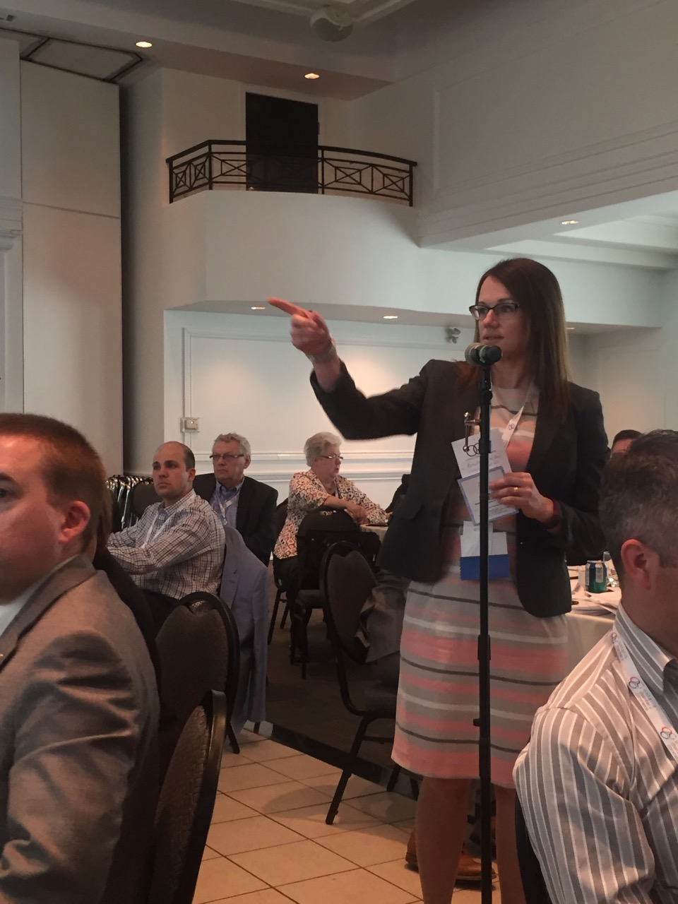 Chamber policy analyst Sandra Dueck speaking at OCC AGM 2016 in Oakville
