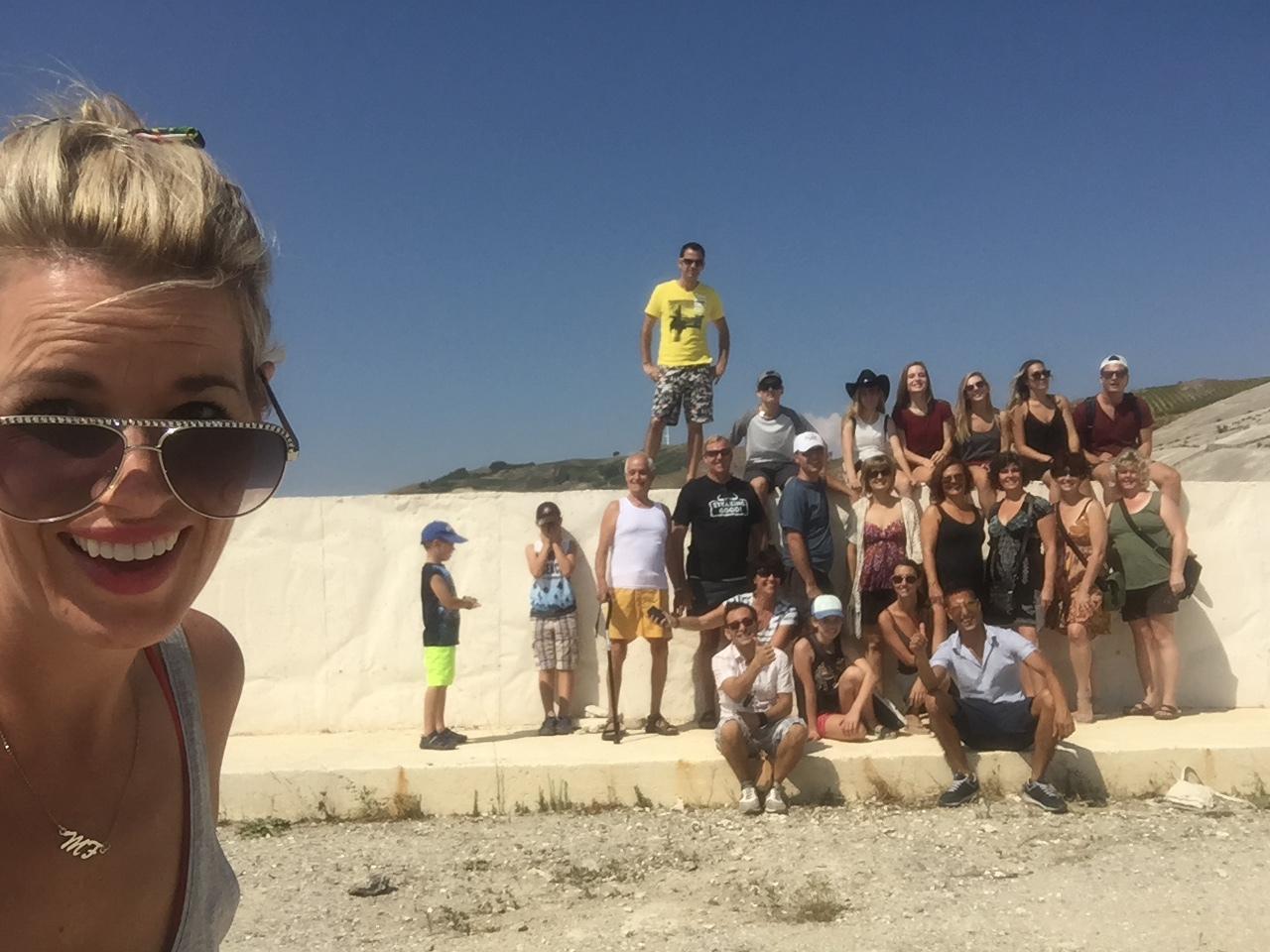 Group shot in Sicily