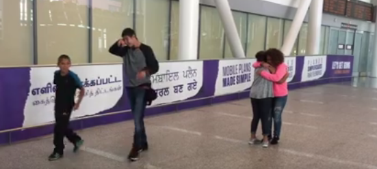 Tears & hugs of joy: Syrian family arrives at Pearson Airport