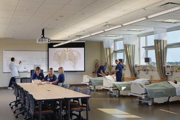 Nursing lab rendering supplied by Fleming College