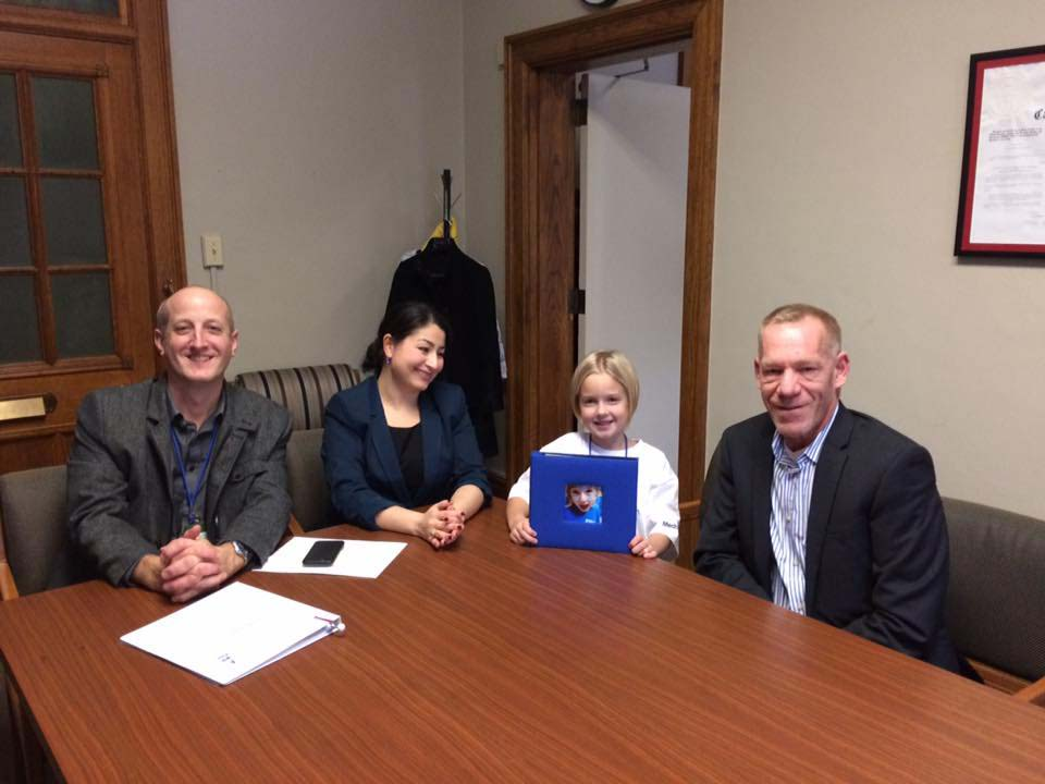 Tilly meeting with Maryam Monsef on Parliament Hill