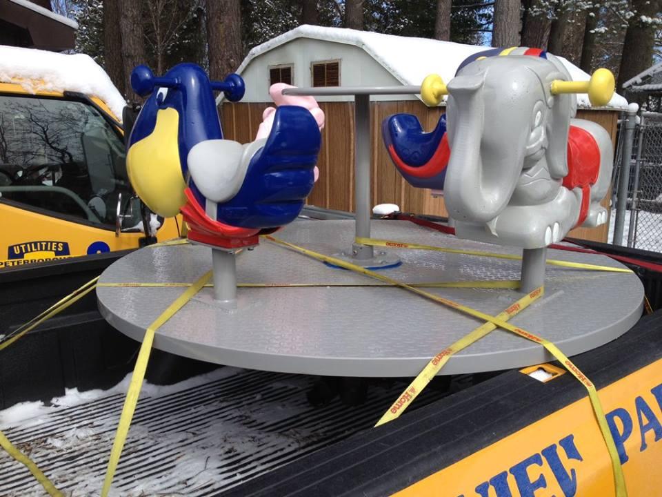 Restored merry-go round
