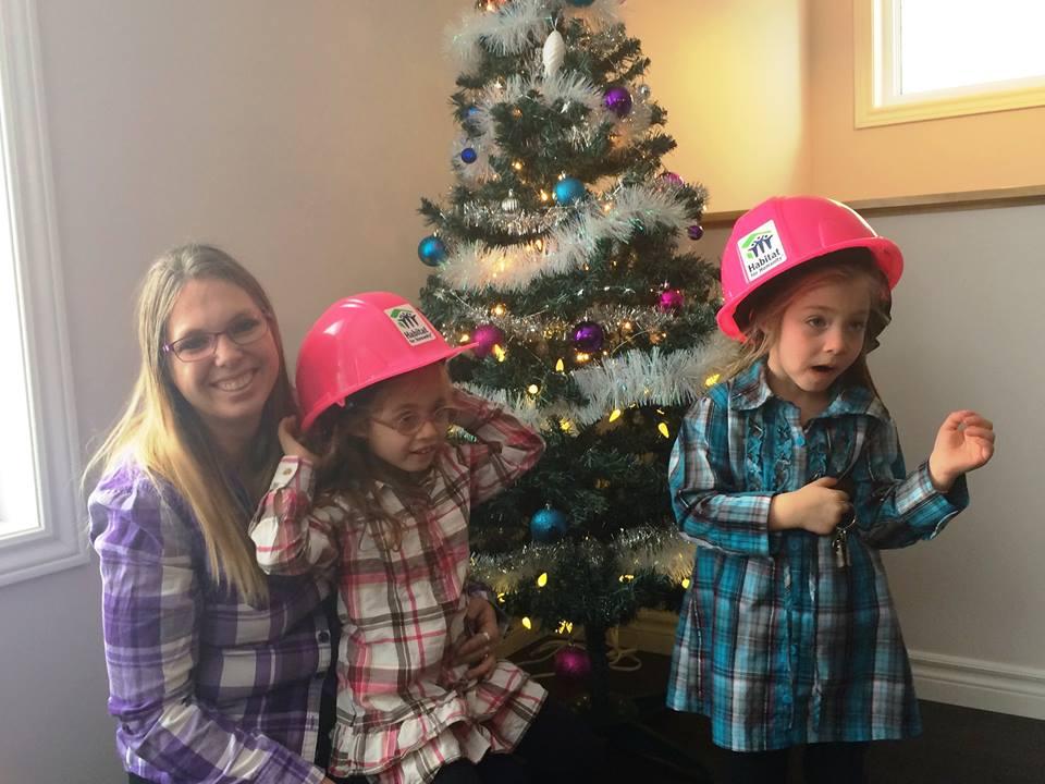 The Young family rocking the plaid: Nicole with daughters Serenity and Savannah