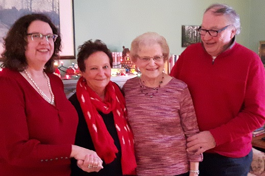 Pictured in photo:  the Stainton cousins—E.J. Rath, Catherine Hawley, Diane Werry and Brian Lee at a Christmas gathering on Albertus Avenue.