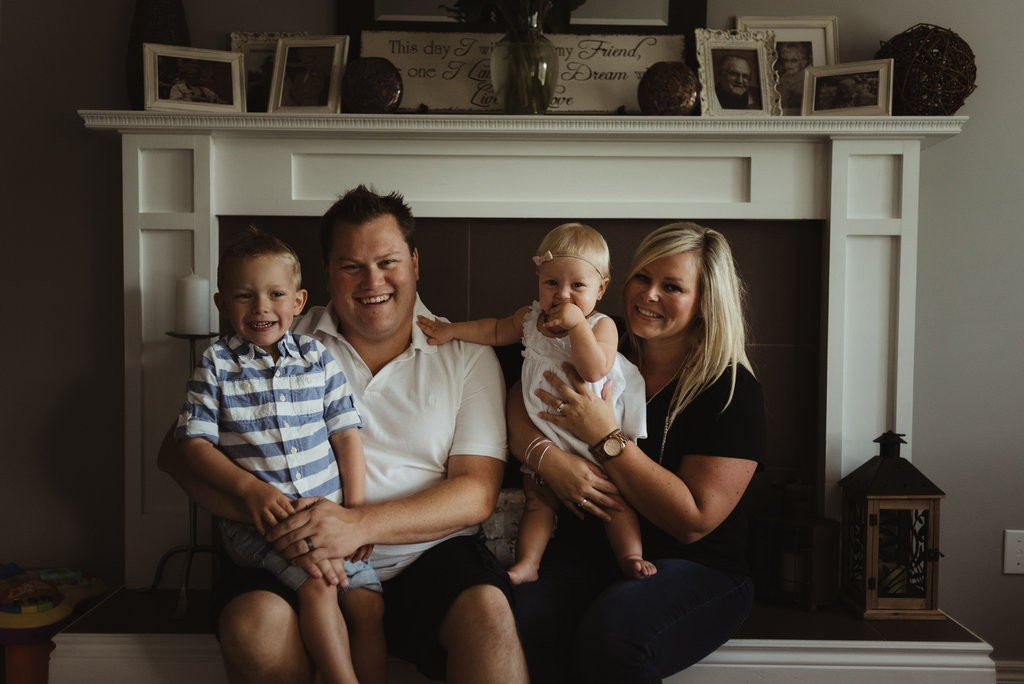 Dan with his wife Amy and children Mack and Nina