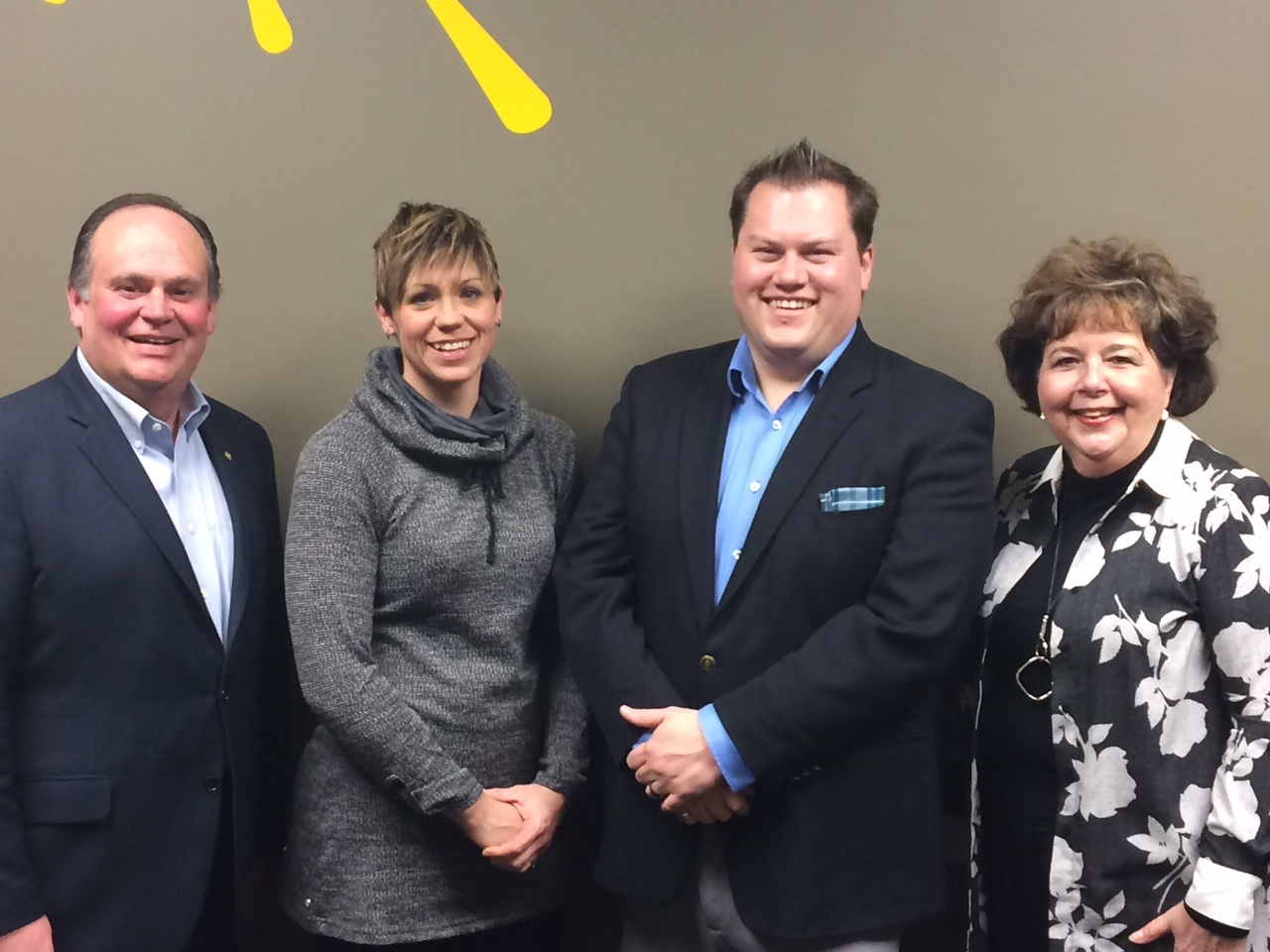 Dan Moloney (2nd from right) pictured with his team Chris Hill, Denise Travers and Heather Somerville