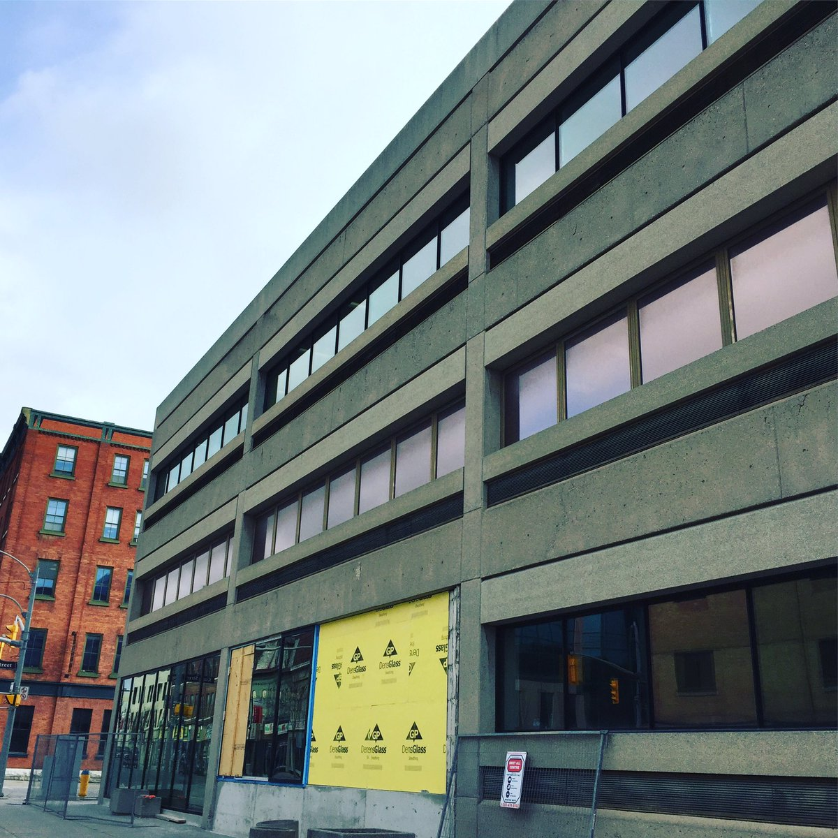 Renovations to exterior of VentureNorth building