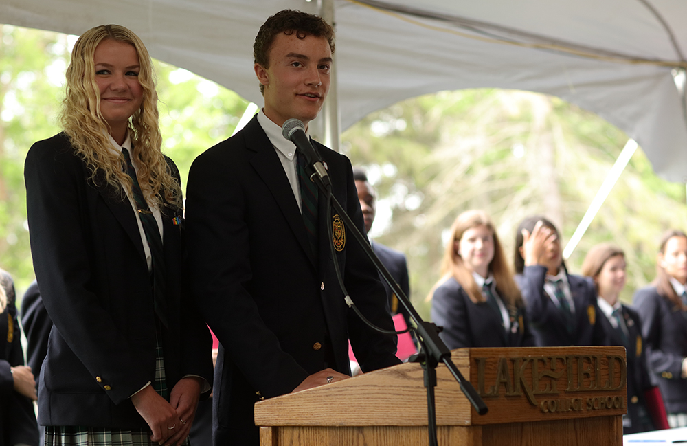 """Class of 2017 Co-Head Students Sophie Welch (Peterborough) and Trevor Smith (Douro-Dummer)"""""""