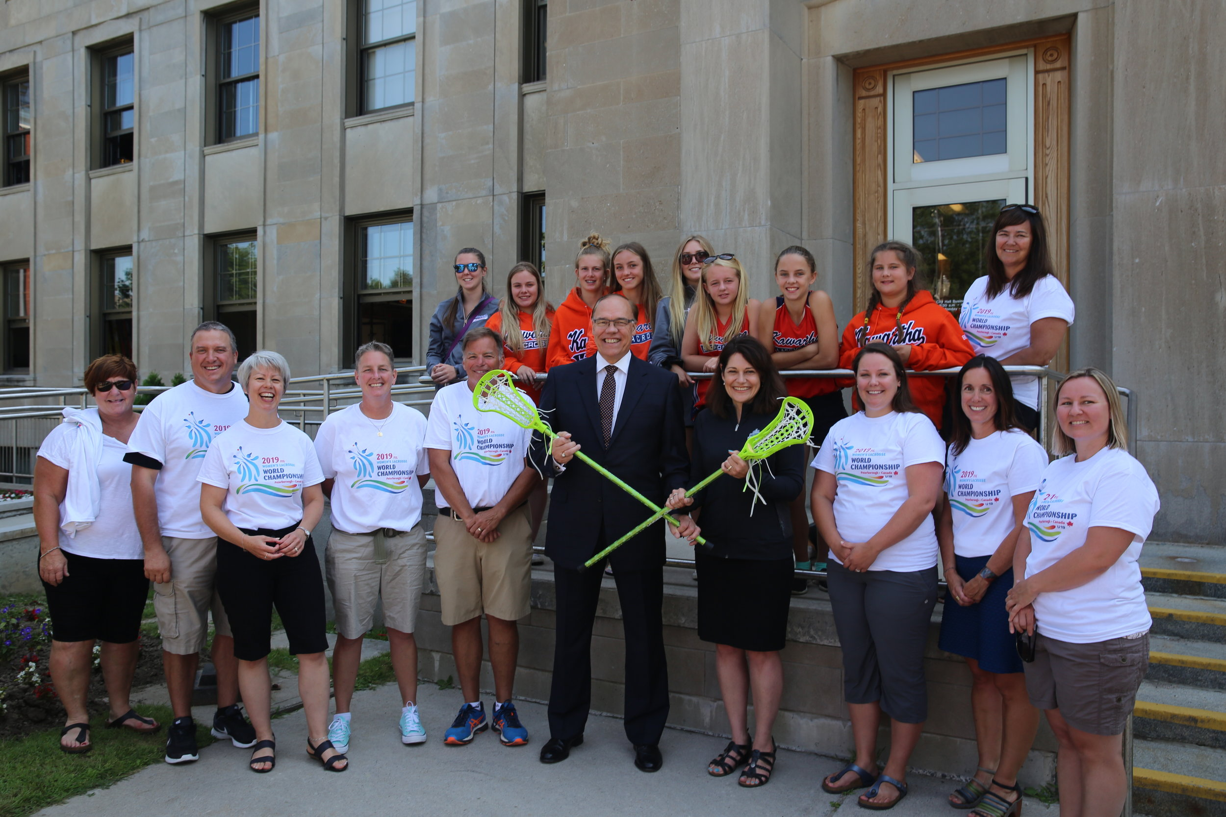 Photo from press launch at City Hall courtesy Trent University
