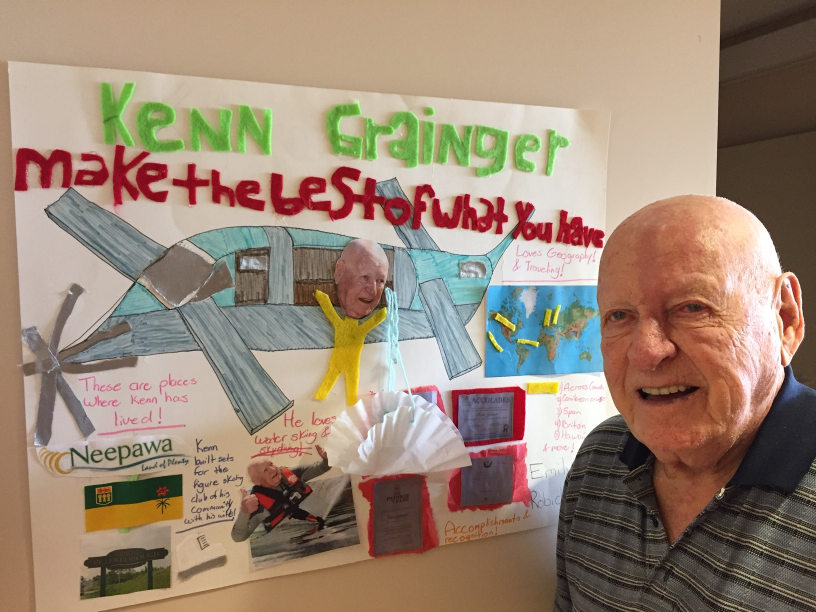 """A student made this for Ken covering his amazing journey in life: """"Make the Best Of What You Have""""."""