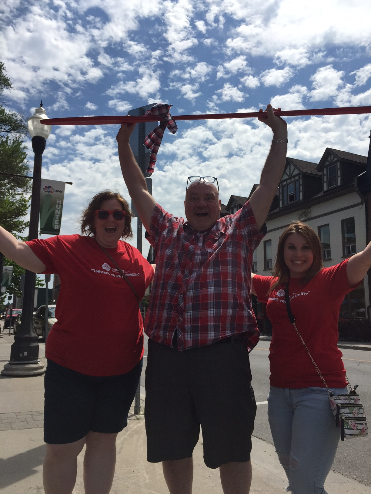 Left to right:  United Way of Peterborough Director of Philanthrophic Impact Lisa Smith, United Way of Peterborough CEO Jim Russell & United Way of Peterborough cabinet member Laura Crann.