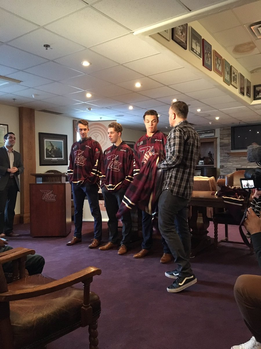 Unveiling of Petes Plaid jerseys at Memorial Centre