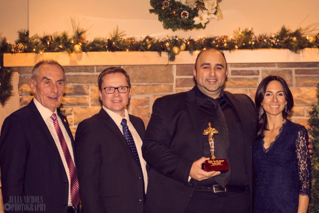 Century 21 United Christmas Party 2016. (Left to right: Carl Oake, Doug Lytle, Tamer, Vanessa Oake-Hogan)