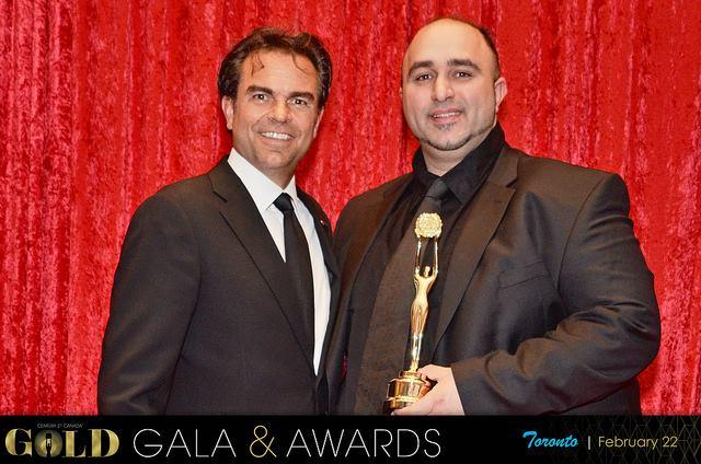 Century 21 Gold Gala receiving National Centurion Producer Award