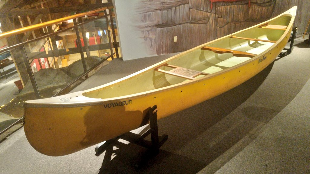 "The yellow canoe that inspired Lightfoot's song ""Canary Yellow Canoe"""