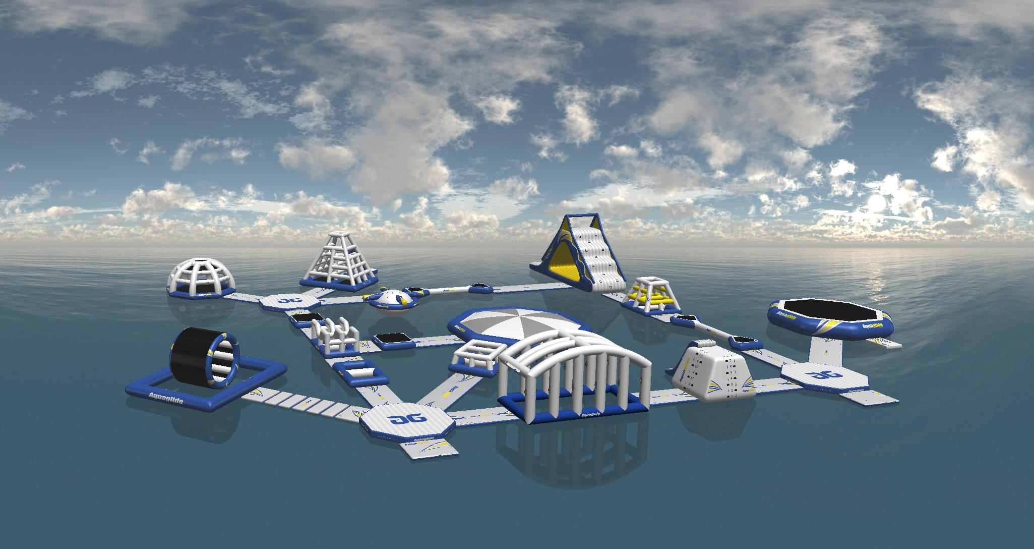 Rendering of Rail Yard Aquapark