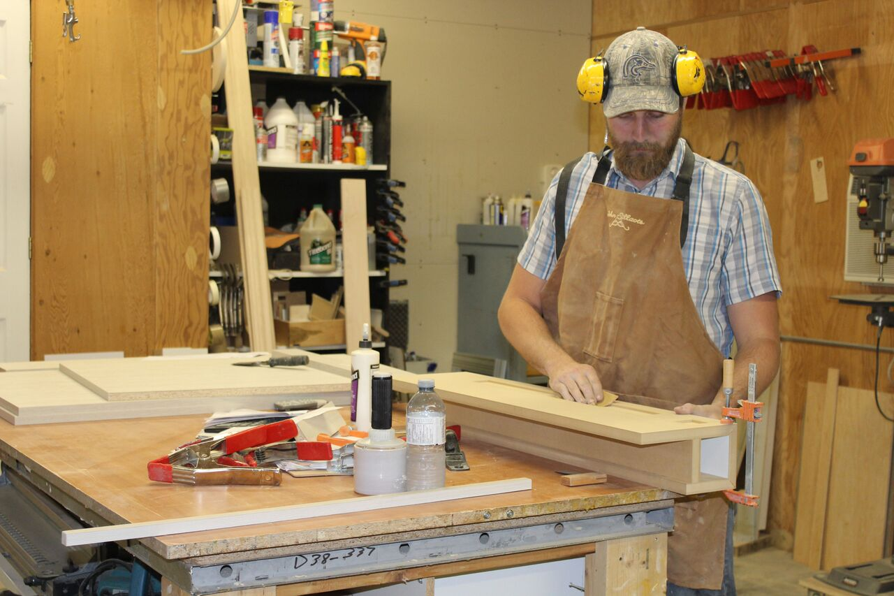In the shop at Canadiana Cabinets
