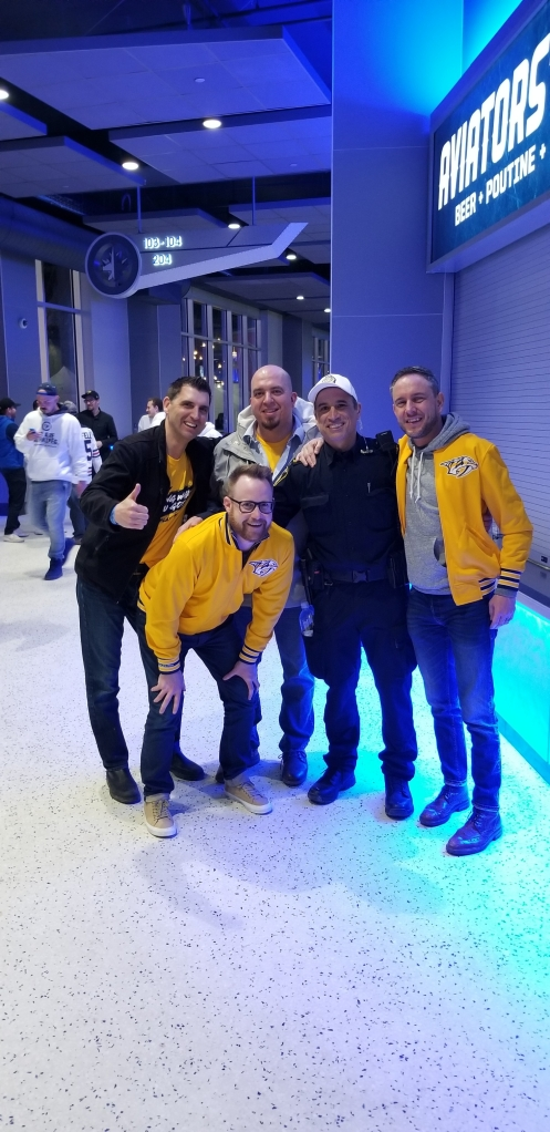 A Winnipeg police officer with the guys