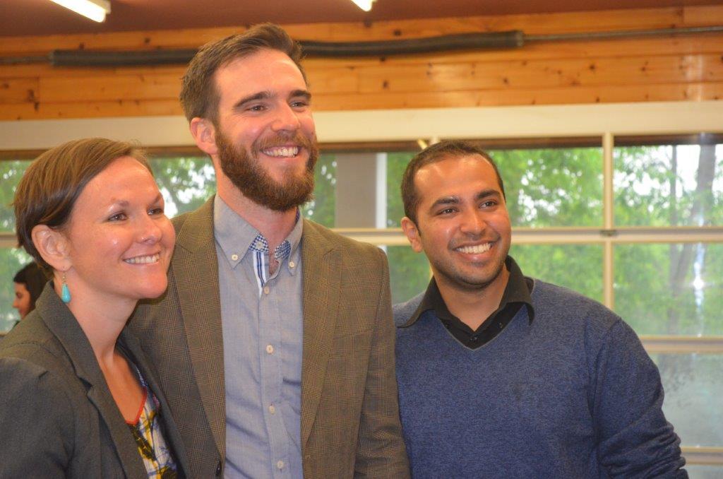 Locavorest co-founders Megan Boyles, Mark Kirton and Vinay Viswanathan