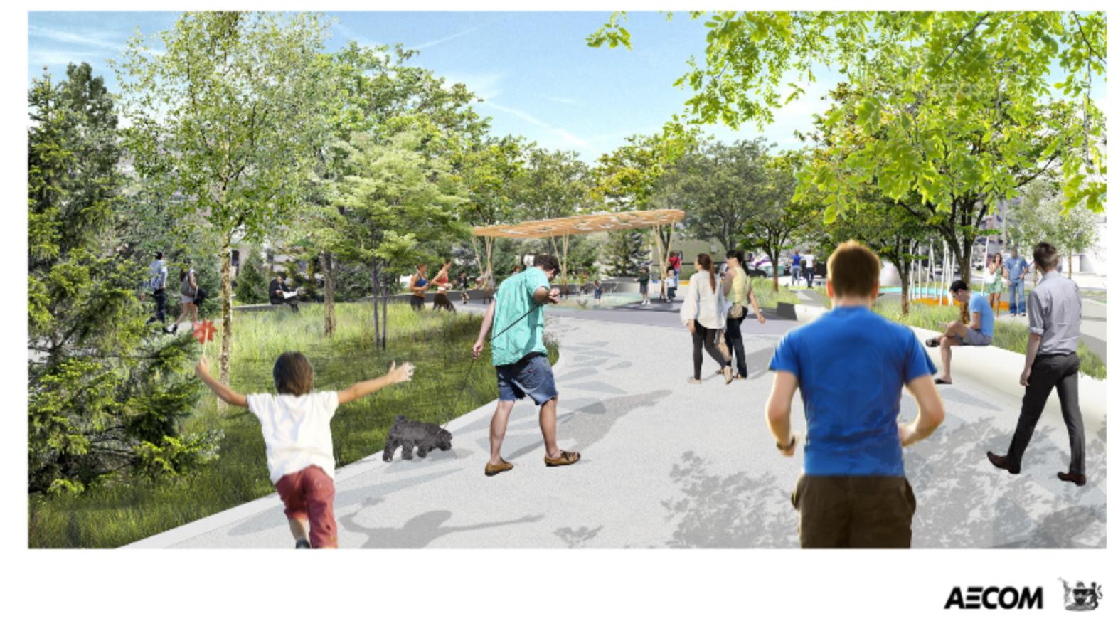 Urban Park rendering