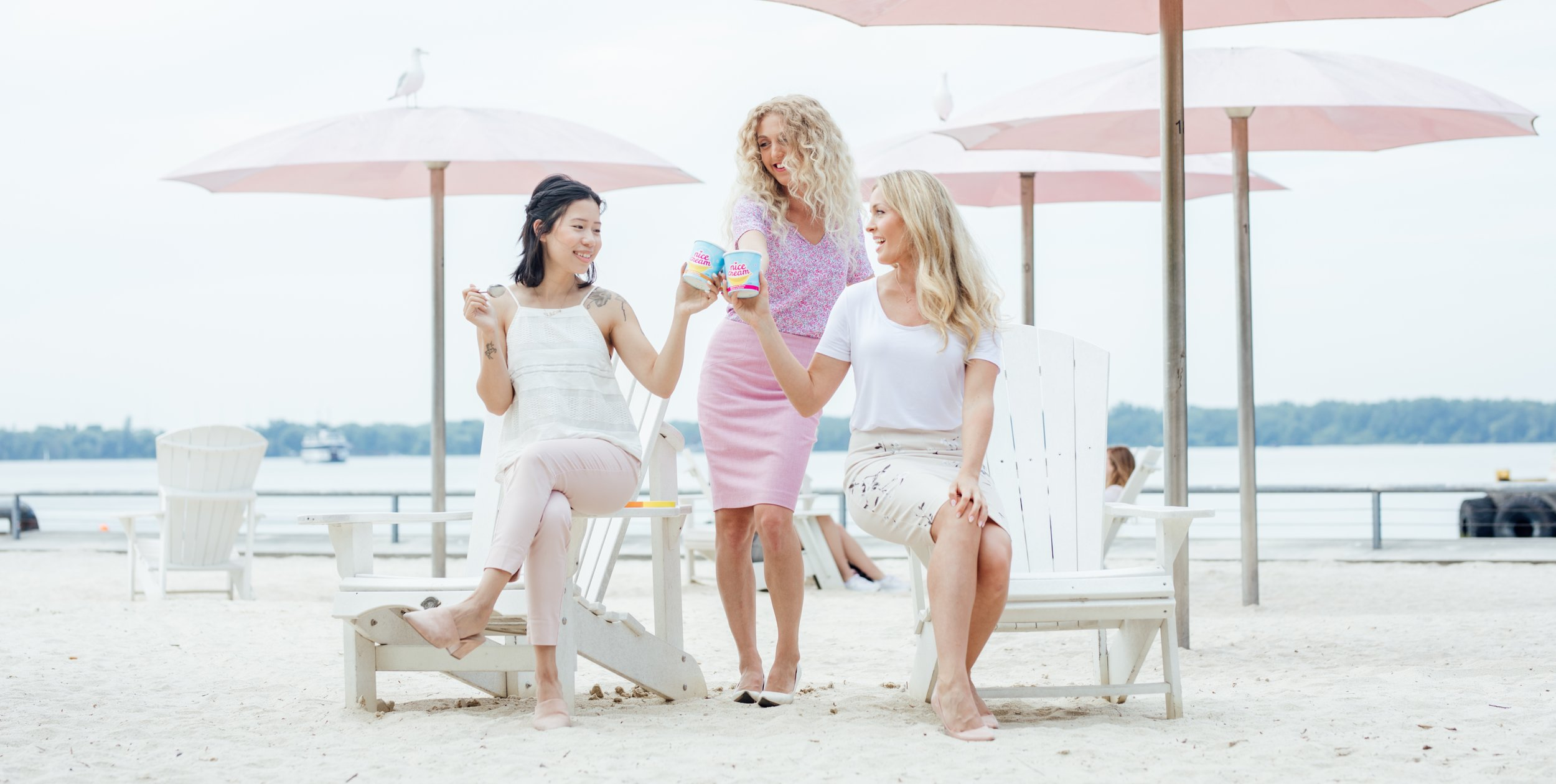 The team behind Chimp Treats: (left to right) Whitney, Brooke and Jillian.