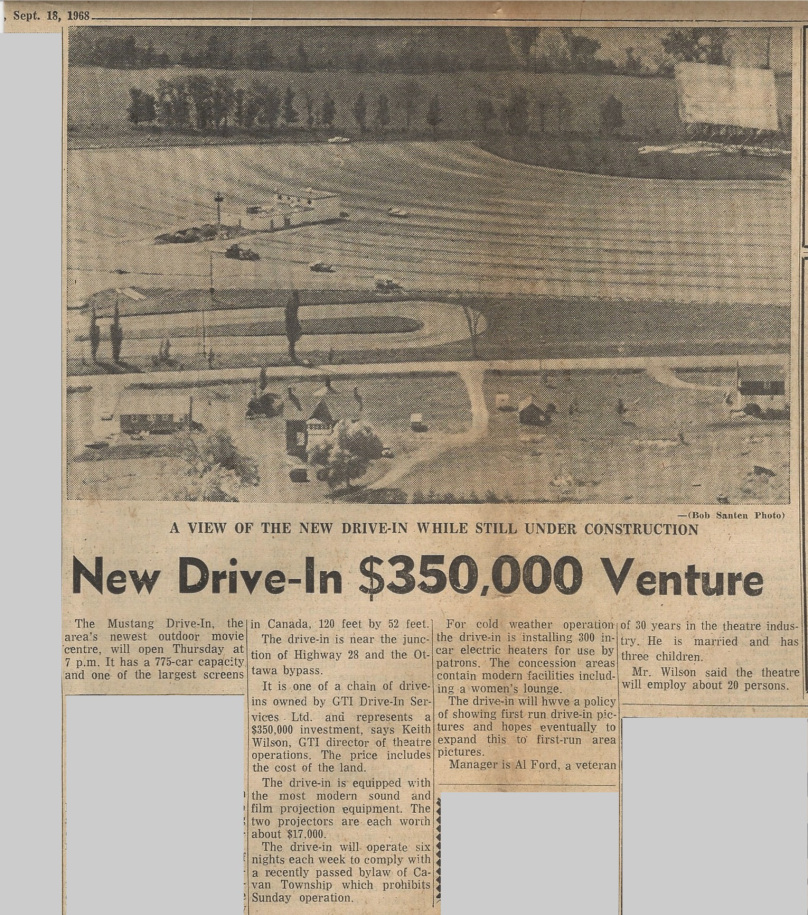 Peterborough Examiner article from September 18th, 1968