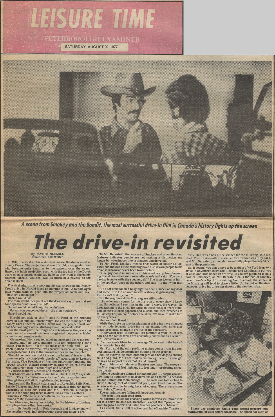 Peterborough Examiner article from August 20th, 1977