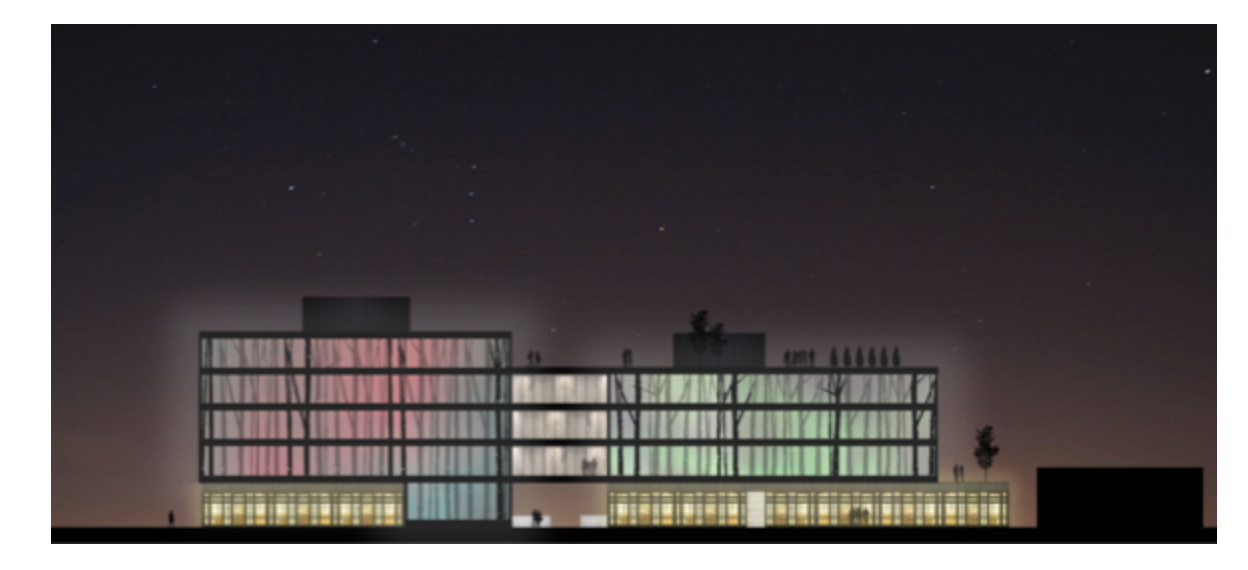 Night rendering of what Phase 2 of VentureNorth Building could look like