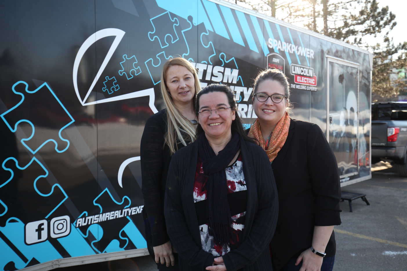 (Left to right): Child and Youth Care program coordinator Heather Sago; Developmental Services Worker program coordinator Ann Hines; and Professor, Simulation & Interprofessional Education Lead Wendy Morgan.