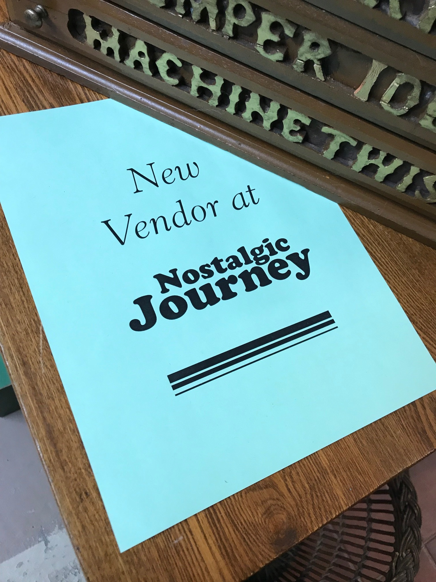 Hall's logo design for Nostalgic Journey