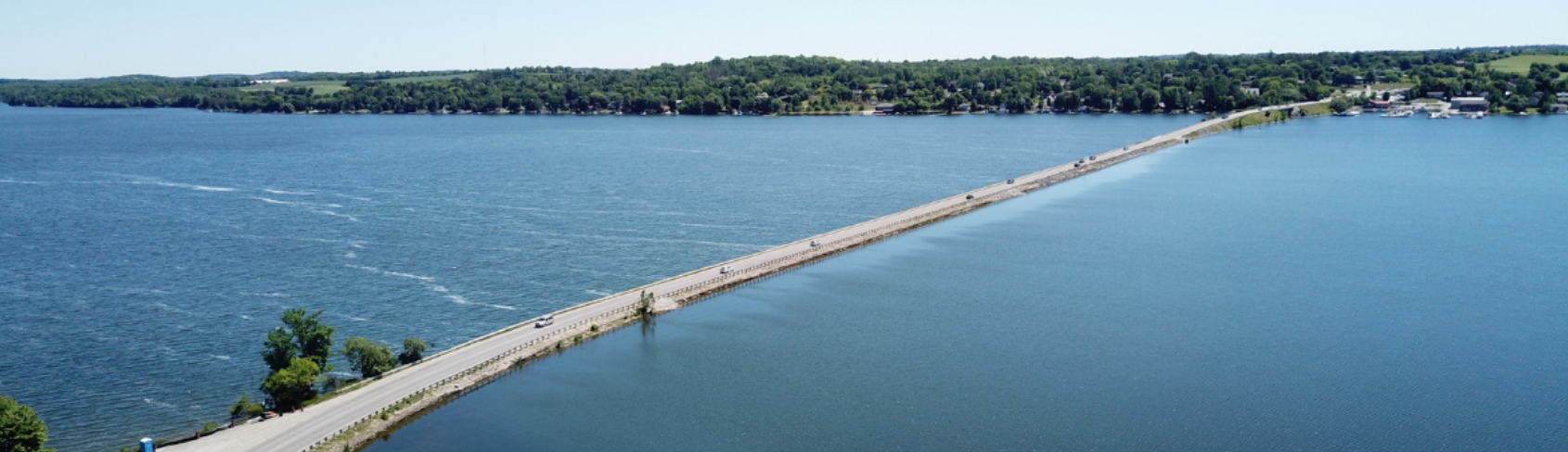 Picture of Gifford Causeway courtesy Peterborough County