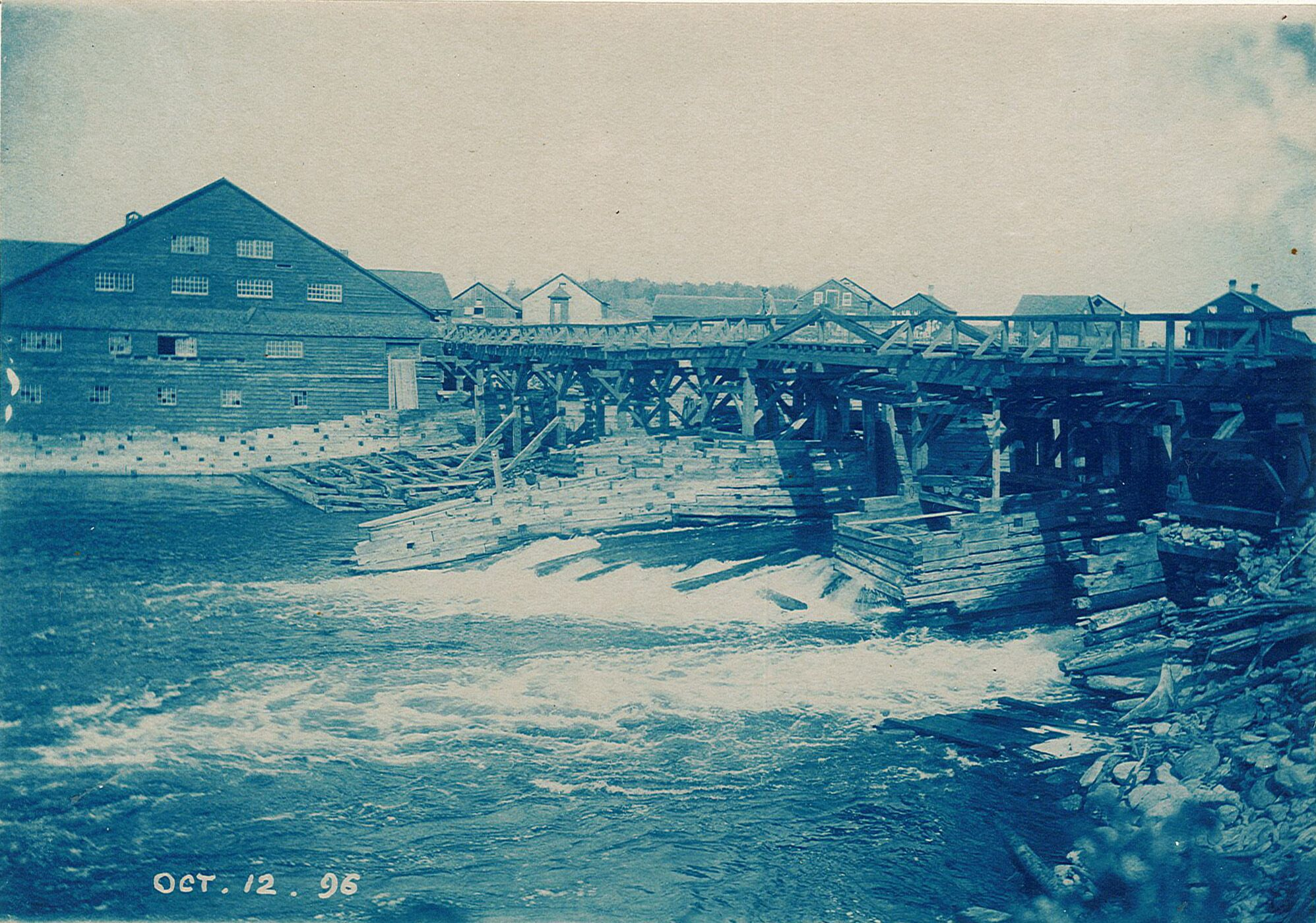 Nassau Dam & Mill, Oct 12.1896. Photo provided courtesy of Trent University Archives from the Geale-Rogers Family Fonds