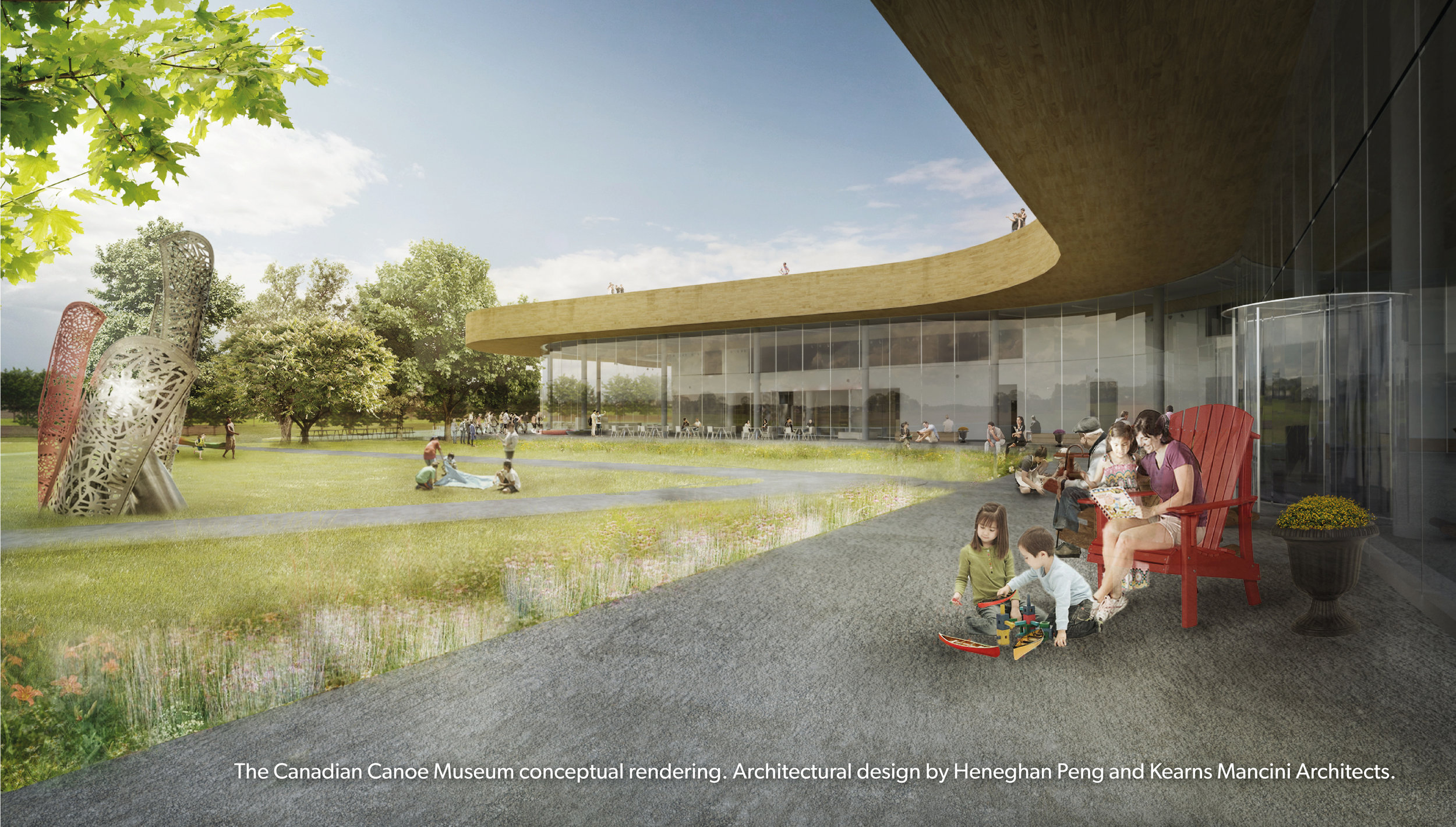 Rendering of terrace (courtesy Canadian Canoe Museum)