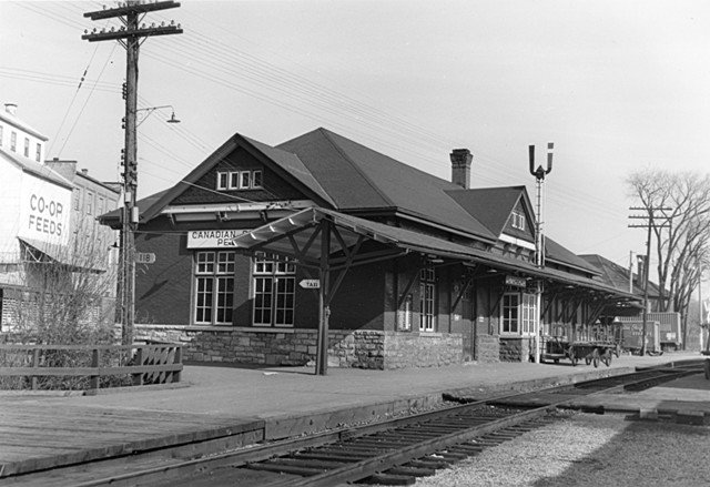 Historical photo of Via Rail station courtesy Peterborough Chamber