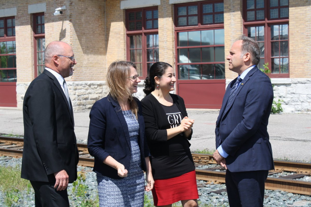 Photo from announcement of funding at Peterborough Chamber courtesy Maryam Monsef