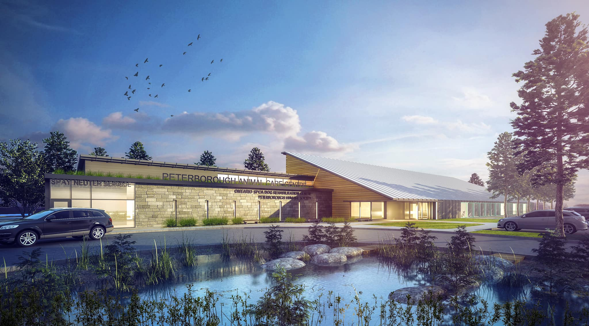 Rendering of future home of Peterborough Humane Society